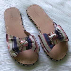 Kate Spade Idalah Bow Stripe Espadrille Slides